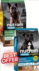 Nutram T25 / T26 All Life Stages Grain Free Dog Food   11.4 kg