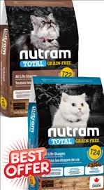 Nutram All Life Stages T22 / T24 Grain Free Cat Food  5.4 kg