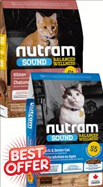 Nutram Adult&Senior S5/ Kitten S1 Cat Food 5.4 kg