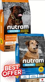 Nutram Adult S6 / Adult Large Breed S8 Dog Food 11.4 kg