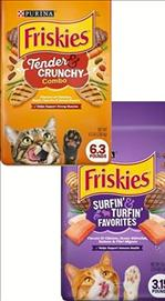 Friskies Tender Crunchy Combo / Surfin & Turfin  Dry Cat Food 7.27 kg