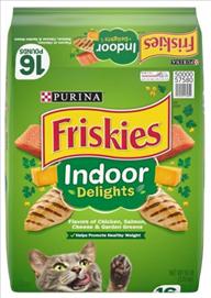Friskies Indoor Delights Chicken, Beef, Salmon, Cheese, Flavors Adult Dry Cat Food 7.25 Kg