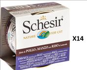 Schesir 14 Cans of Wet For Cats- Variety 85 grams