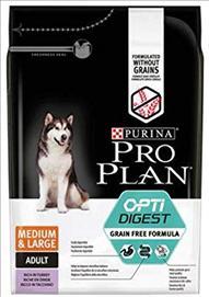 PROPLAN GRAIN FREE OPTIDIGEST MED/LGE ADULT DOG TURKEY 12 Kg